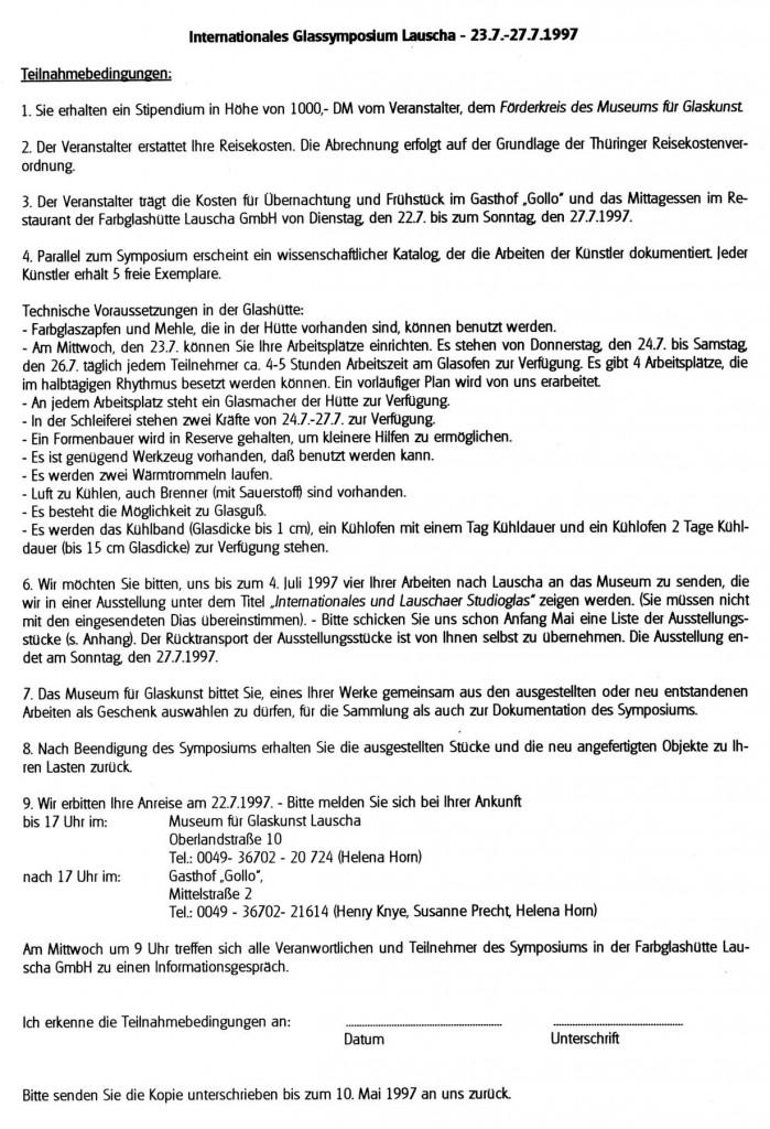 V. Glassymposium 1997