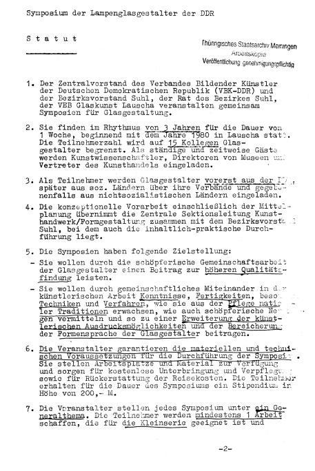 Statut Symposium 1980_Blatt1