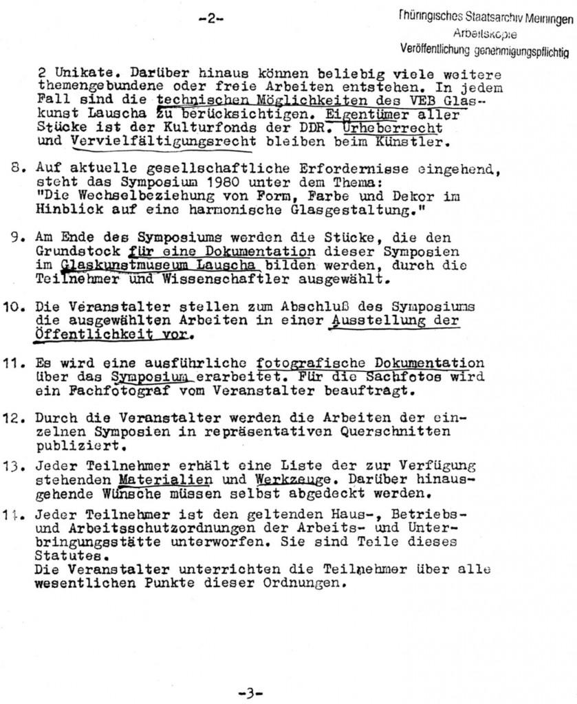Statut Symposium 1980_Blatt2