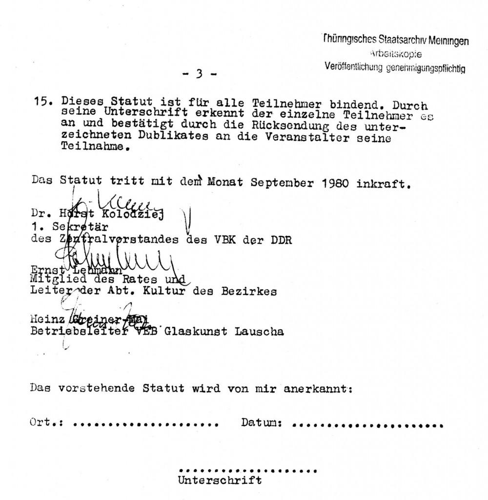 Statut Symposium 1980_Blatt3